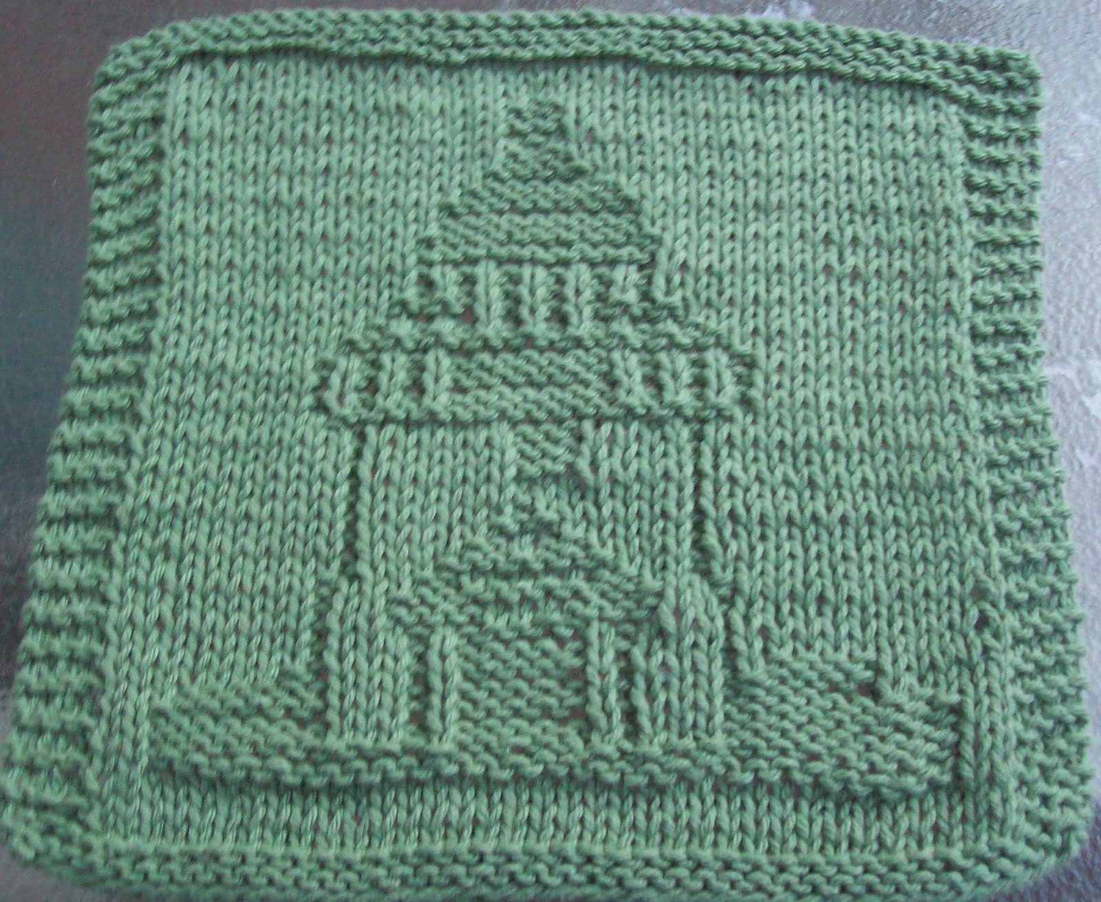 How To Knit Dishcloths Free Patterns : DigKnitty Designs: Lighthouse Too Knit Dishcloth Pattern