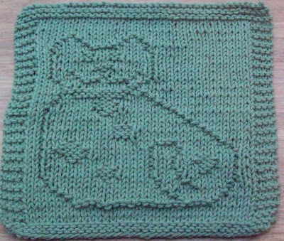 Knitted Dalek Pattern : DigKnitty Designs: Country Cat Knit Dishcloth Pattern
