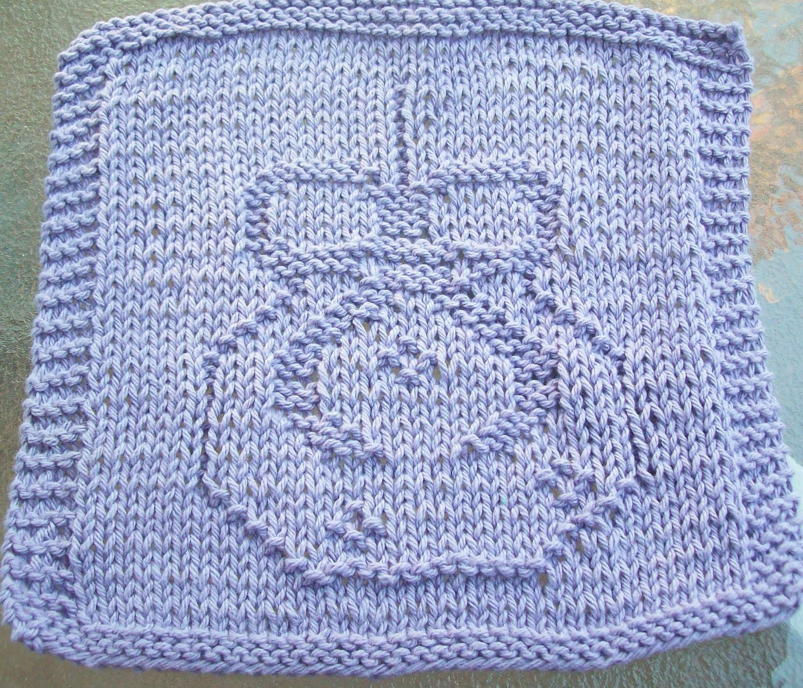 DigKnitty Designs: Another Ornament Knit Dishcloth Pattern