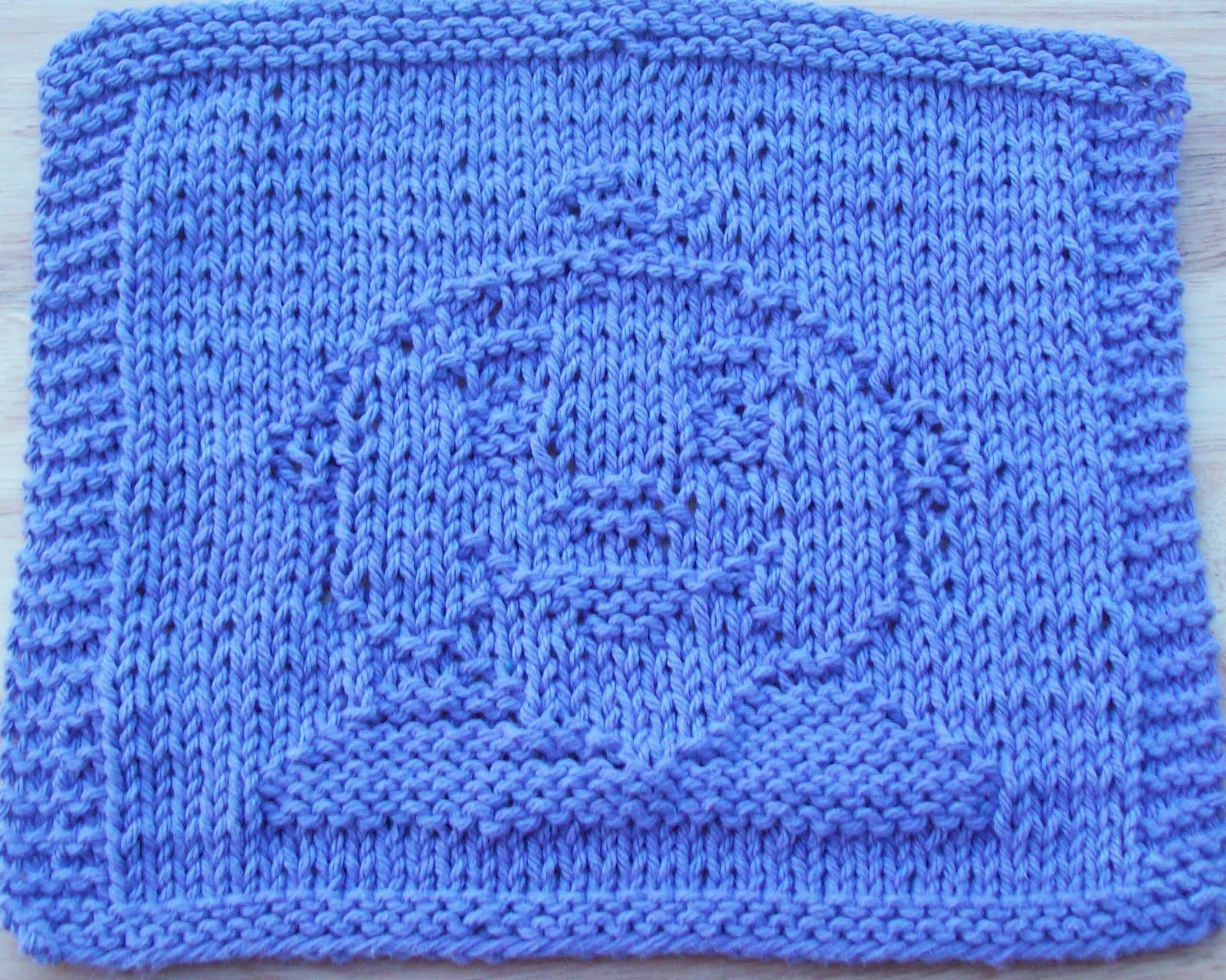 DigKnitty Designs: Baby Face Too Knit Dishcloth Pattern