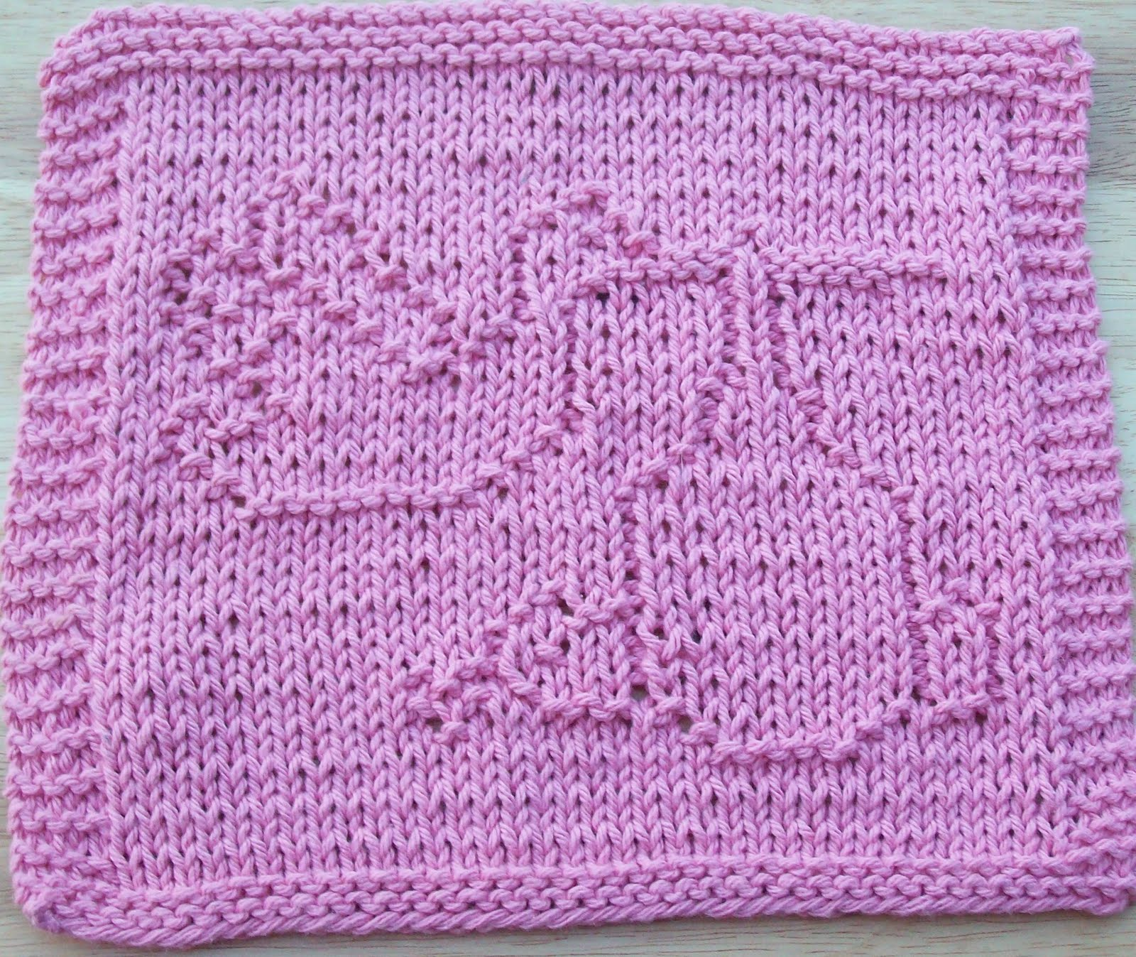 Knit Dishcloths Free Patterns : DigKnitty Designs: Stork Knit Dishcloth Pattern