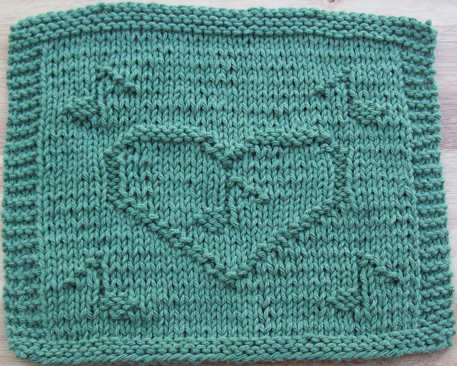DigKnitty Designs: Music In My Heart Knit Dishcloth Pattern