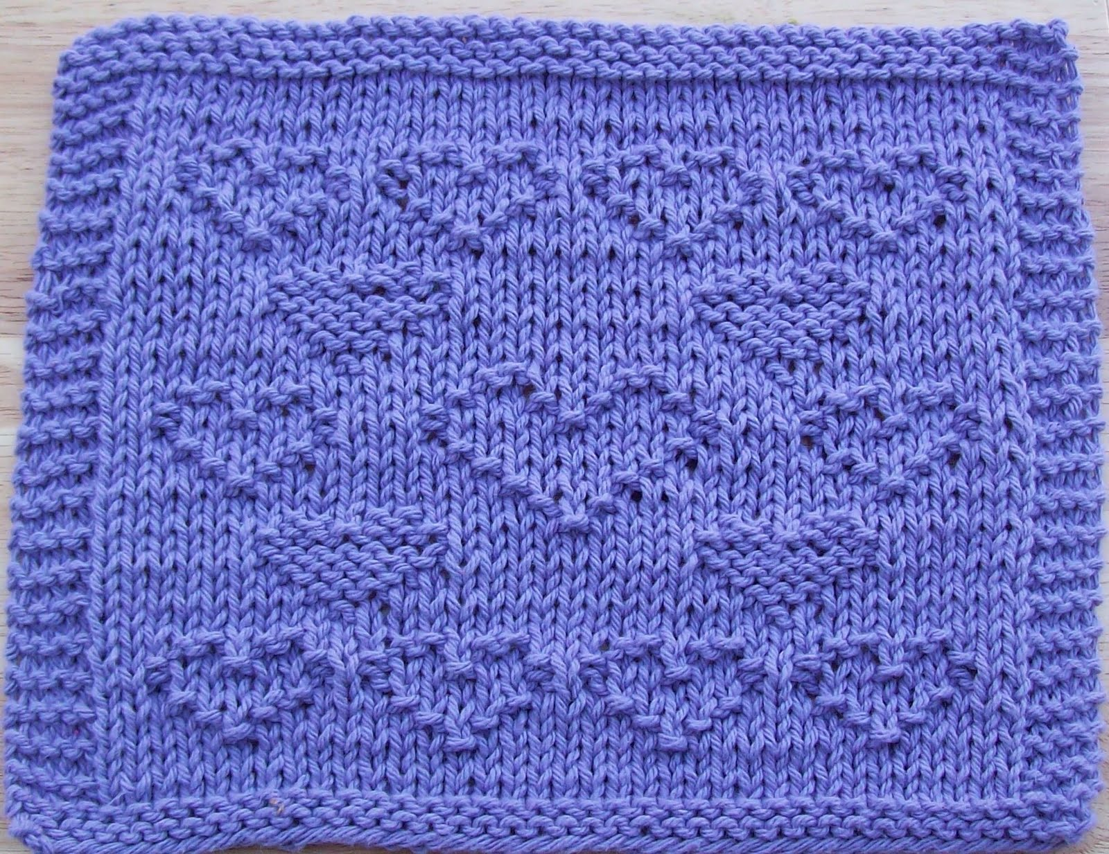 Knitting Pattern Heart Dishcloth : DigKnitty Designs: All About Hearts Knit Dishcloth Pattern