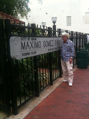 old Cuban guy in Little Havana in front of Domino Park