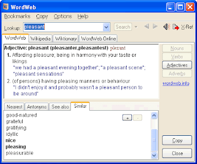WordWeb : one-click English thesaurus and dictionary 1
