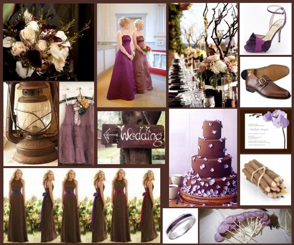 Lavender and Brown Color Palette http://colordesignpalette.blogspot.com/2010/10/event-woody-purple.html