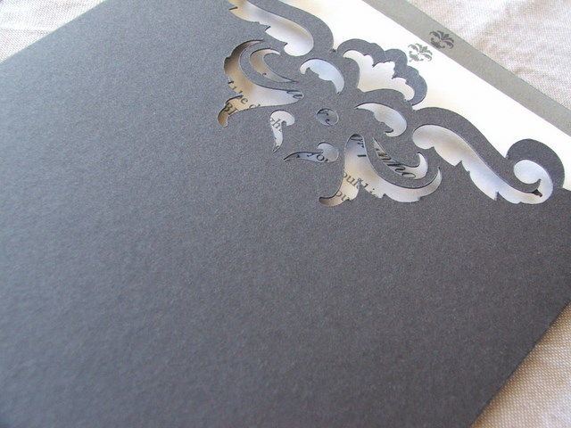 wedding invitations and stationery Laser Cut and Engraved Wedding
