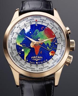 Montre Vulcain Aviator GMT The World