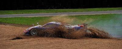 Saleen S7R n°50 Larbre Competition - Sortie de piste 24H du mans 2010