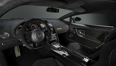 Intrieur full black de la Lamborghini Gallardo LP 570-4 Blancpain Edition