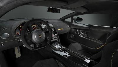 Intérieur full black de la Lamborghini Gallardo LP 570-4 Blancpain Edition