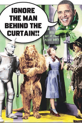who is the man behind the curtain obama