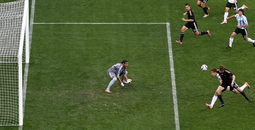 Germany's first goal