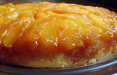 Peach Upside Down Cake With Canned Peaches