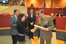 Seduta solenne Consiglio regionale Ligure/ premiazione concorso Shoah / Samina Zargar