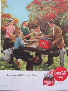 Coca Cola 1950 print ad