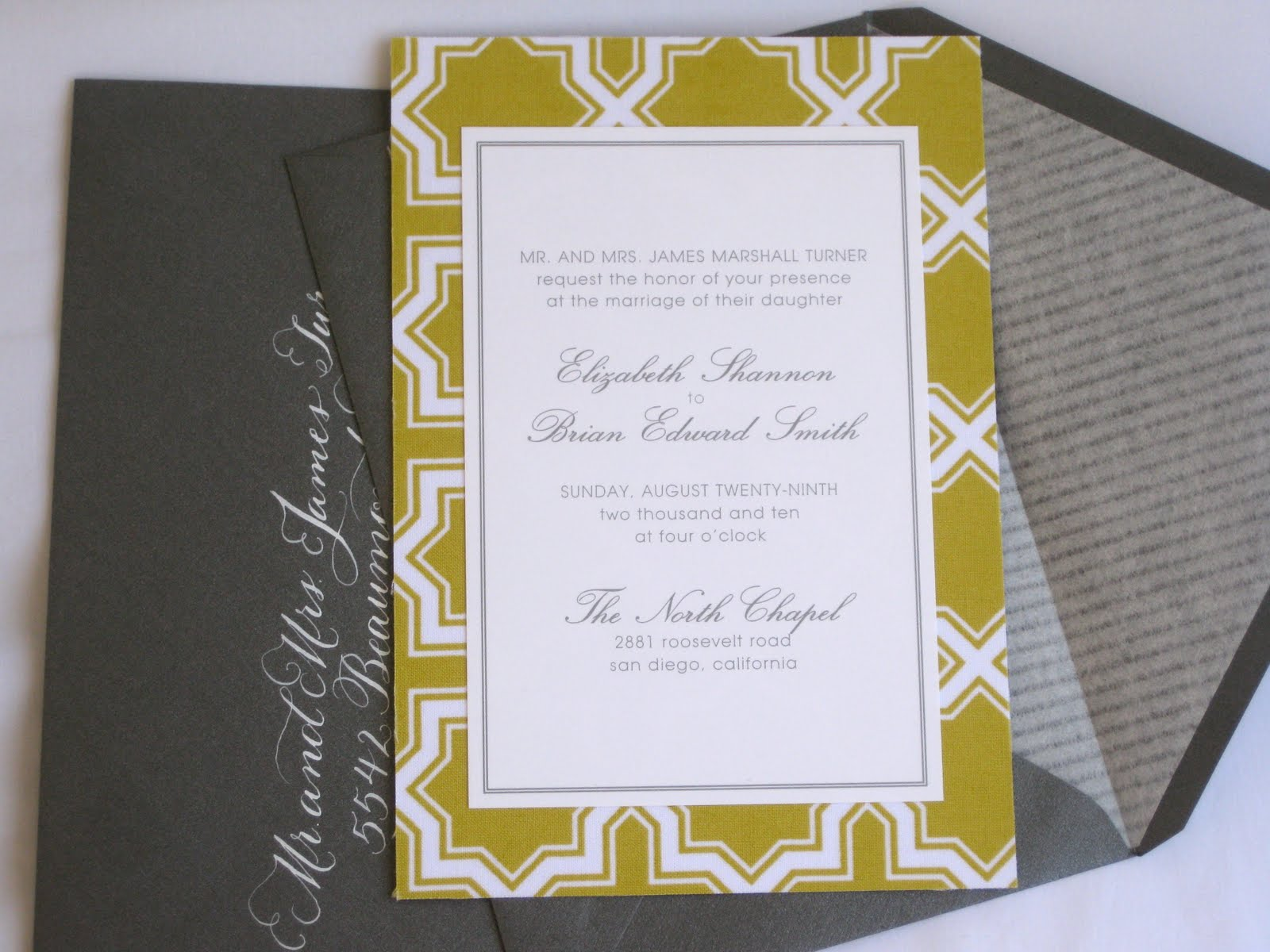 paper & ink: wedding invitation suite