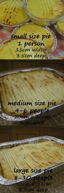 Pie Sizes