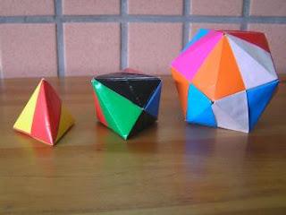 正四面體、正八面體、正二十面體
