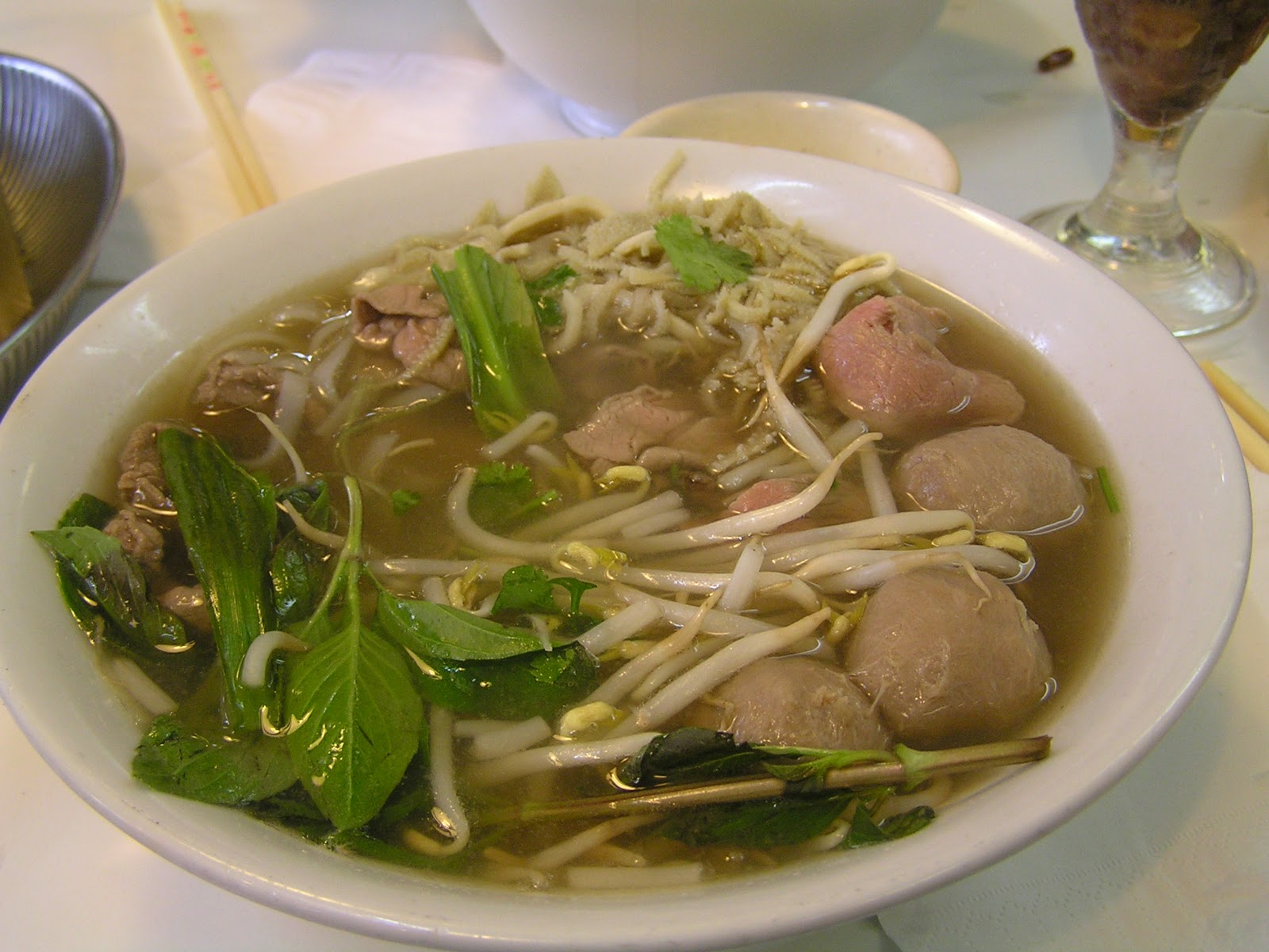 noodle ingredients pho for soup Beef Vietnamese Pho Bo Soup/Vietnamesiske Nudlersuppe med Noodle