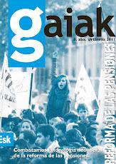 Gaiak 8. Reforma de las pensiones.