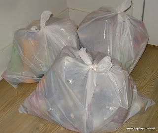 (T.O.) 4 garbage bags...
