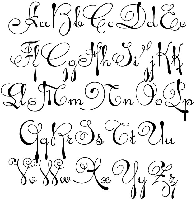 The Letters Of The Alphabet In Cursive - Reocurent