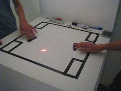 laser interactivo, formas y sonido - Daito Manabe