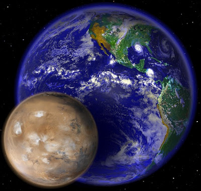 Comparison between Mars and Earth