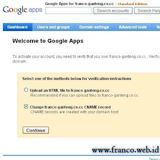 Setting Google Apps Untuk Email