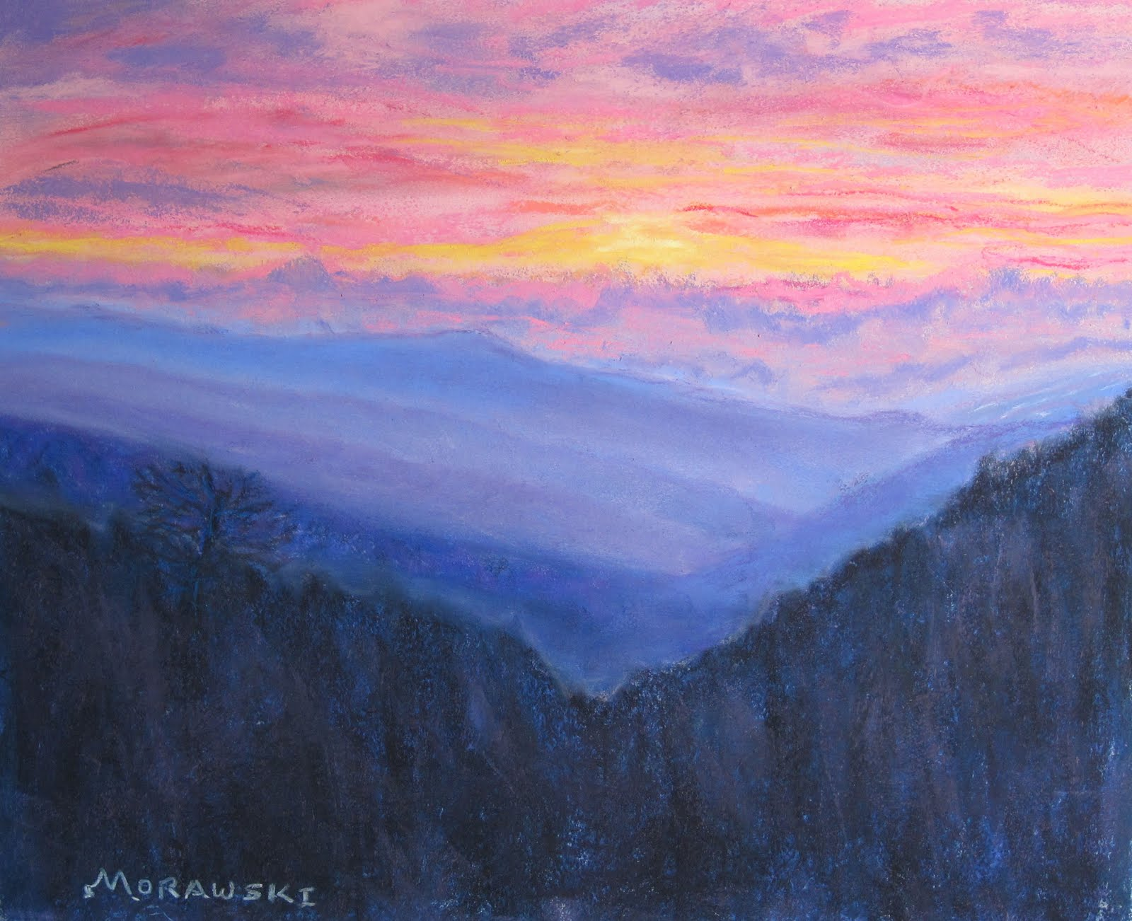 Seasons New Mountain Landscape QuotSmoky Mountain Retreatquot