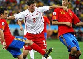 سويسرا تفوز على اسبانيا