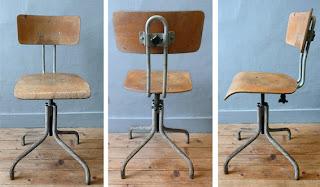 Les traficoteuses - Chaise atelier industriel ...