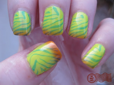 UniqueTropical Zebra Nail Design
