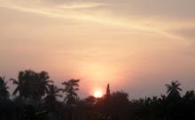 老家门前的日落