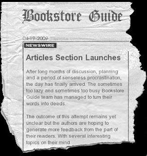 Bookstore Guide Articles Section