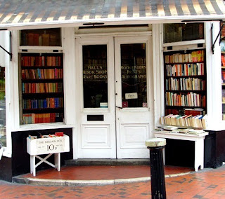 Hall's Bookshop outside