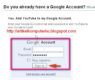 buat account youtube