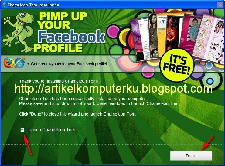 merubah layout facebook