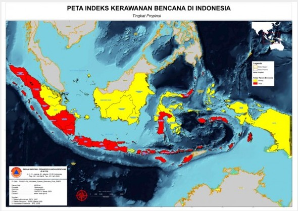 peta rawan bencana Indonesia