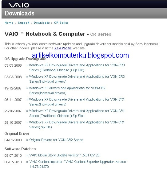Download driver sony vaio