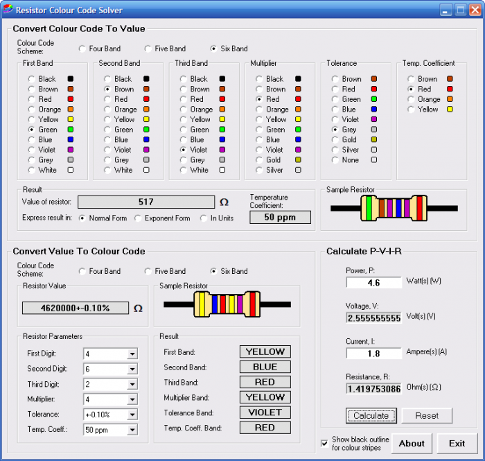 Software resistor