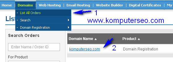 mengganti domain blogspot