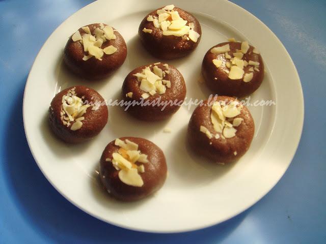 Chocolate Peda Without Milk Powder