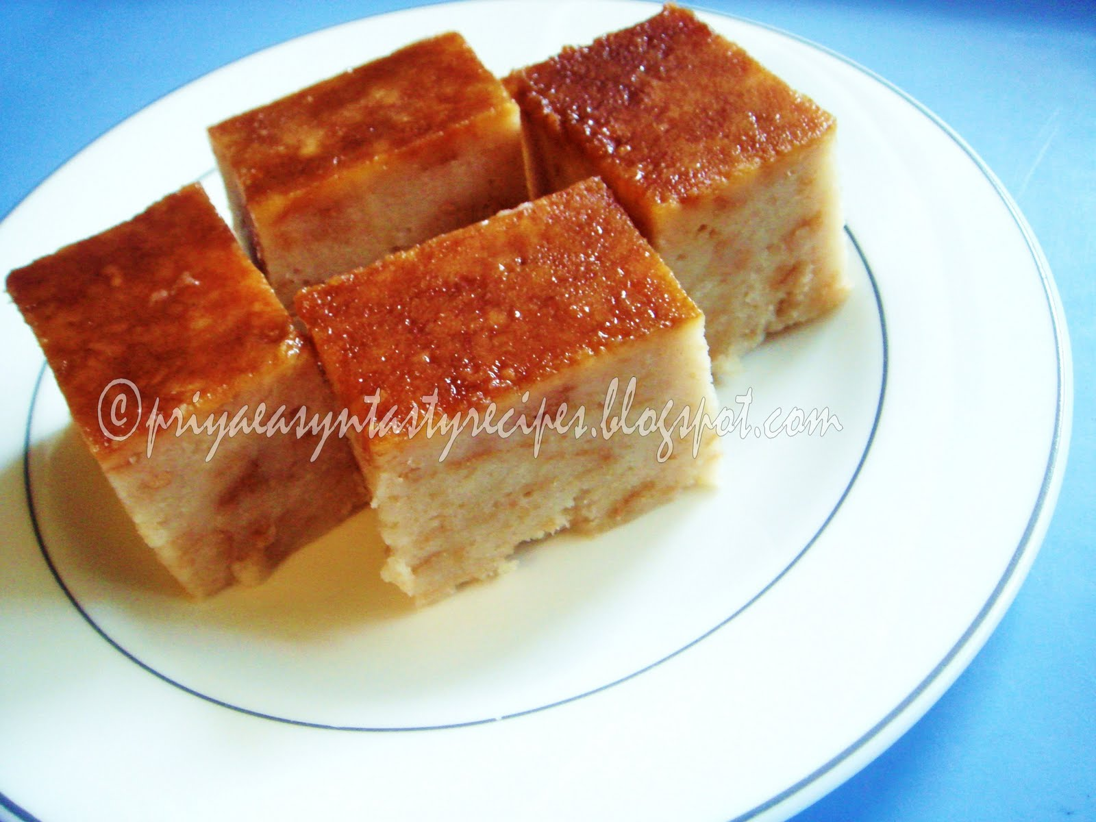 Priya's Versatile Recipes: Caramel Bread Pudding