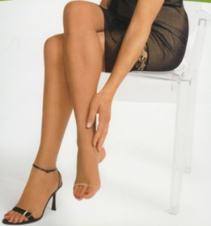 Open toed shoes pantyhose