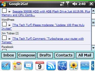 Google2GO! screenshot