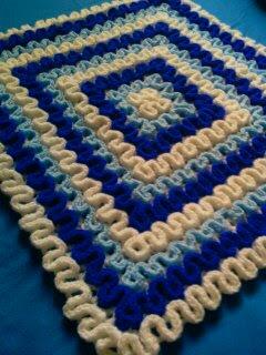 alfombra crochet azul 1