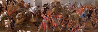 Carnival, Carnaval, Carnival in the Piazza Colonna, Rome, Jan Miel, 1645