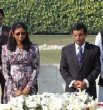 The Republic of Maldives, President, Mohamed Nasheed, aka Anni, First Lady, Laila Ali Abdulla, At Gandhi's Grave